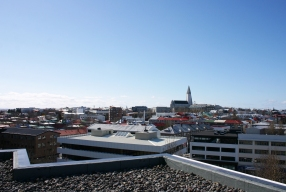 View to Hallgrimskirkja